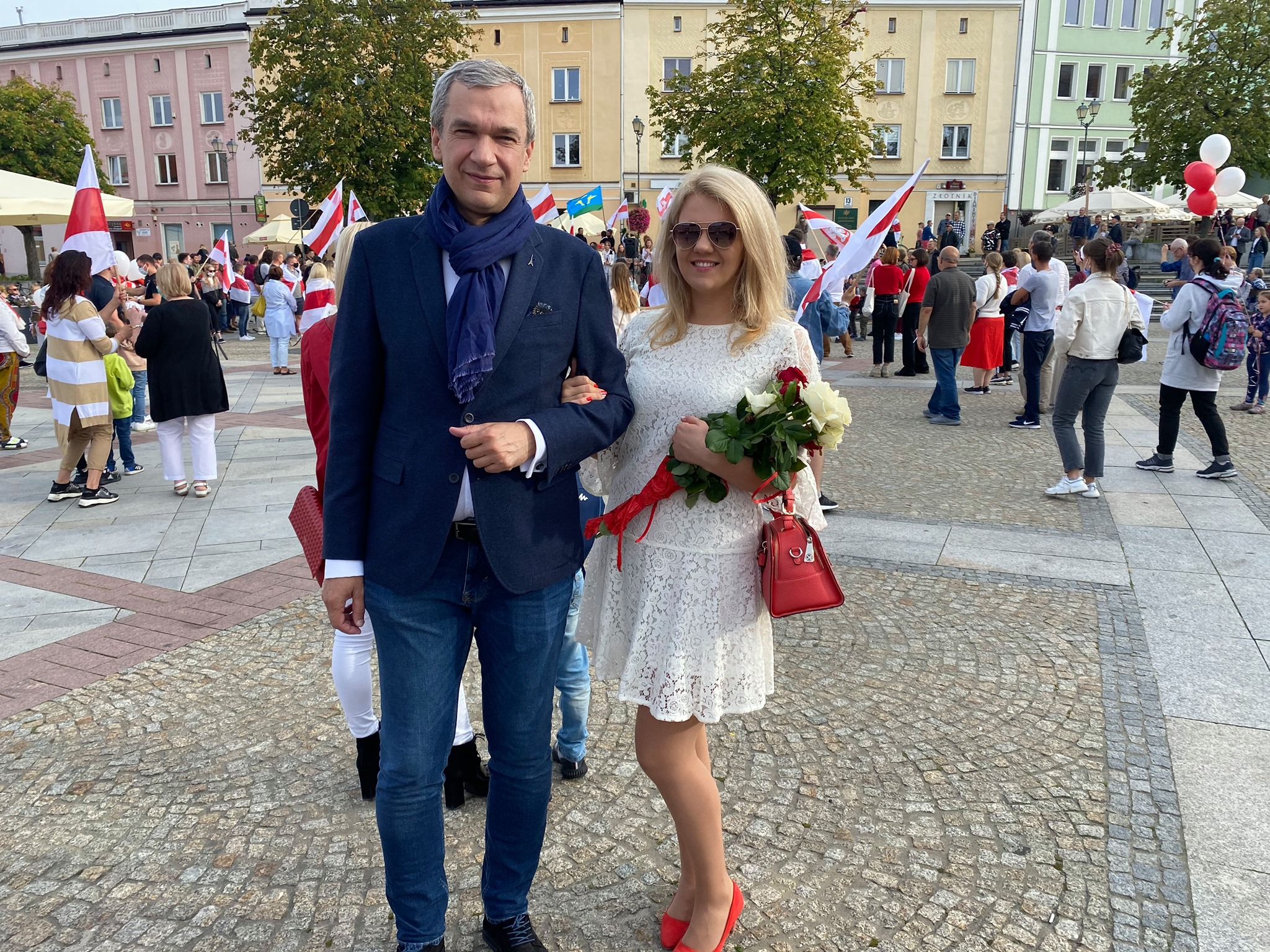 Павел Латушко с дочерью Яной