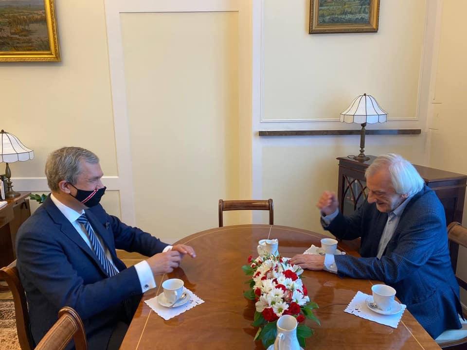 Встреча Павла Латушко с вице-маршалом Сейма Польши