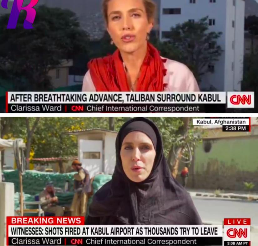 Журналист CNN до захвата Кабула и после