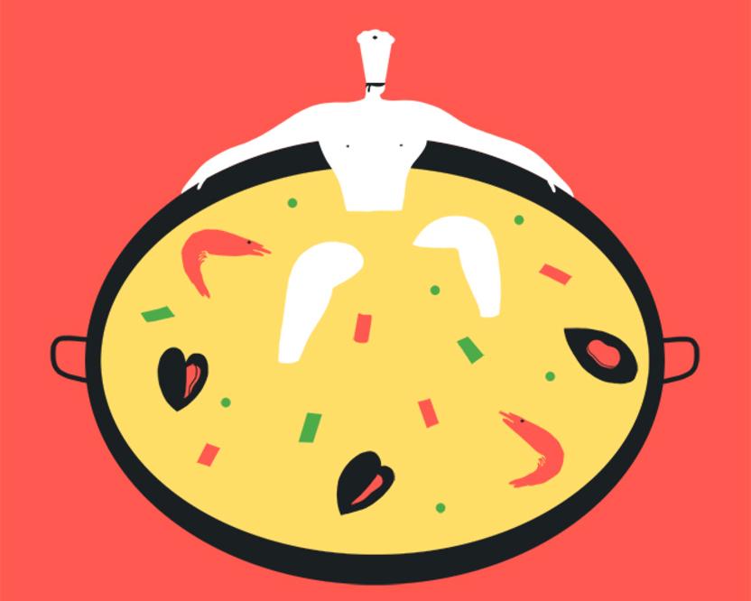 Magoz illustration pleasure of cooking