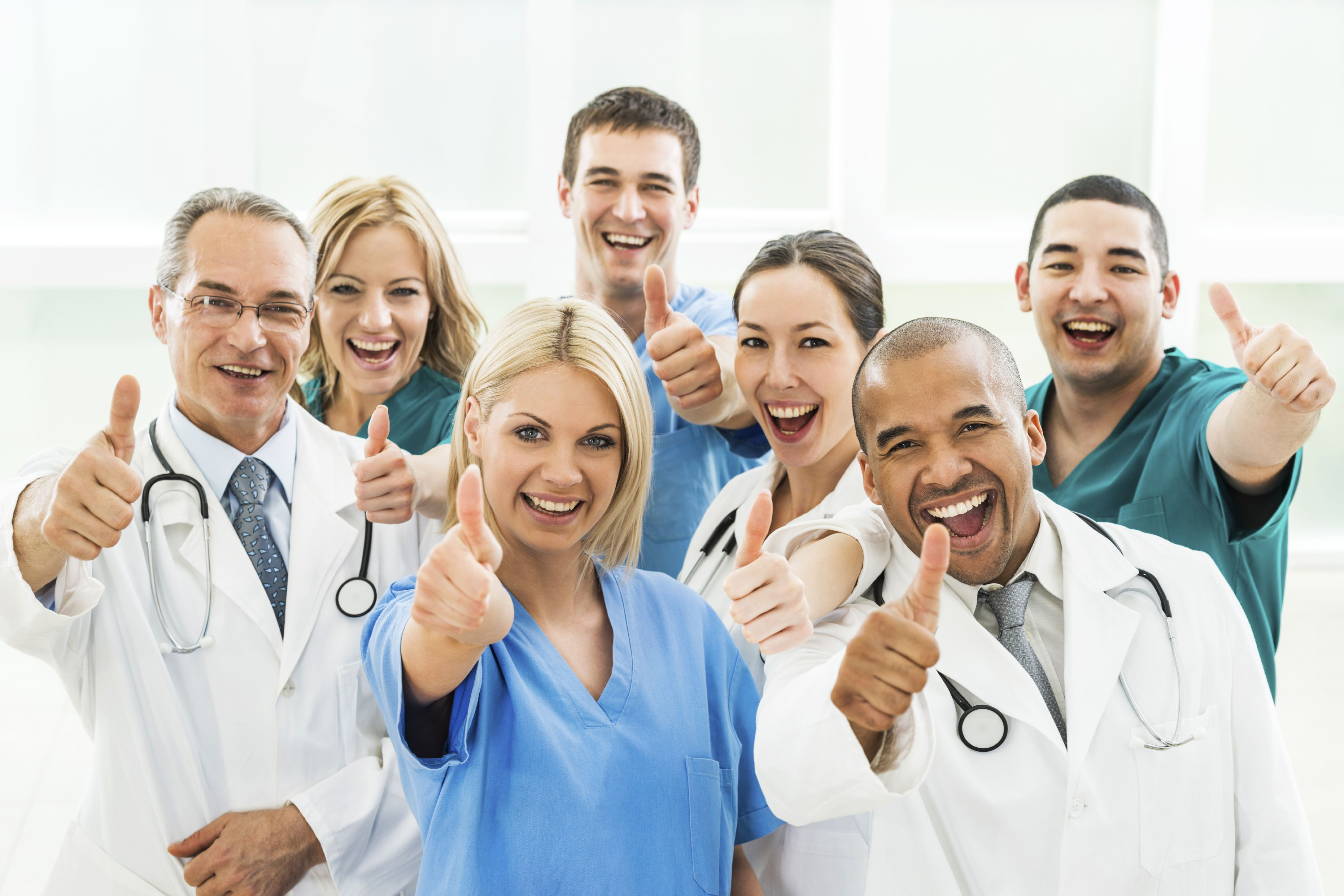 Clinicians smiling at camera 02