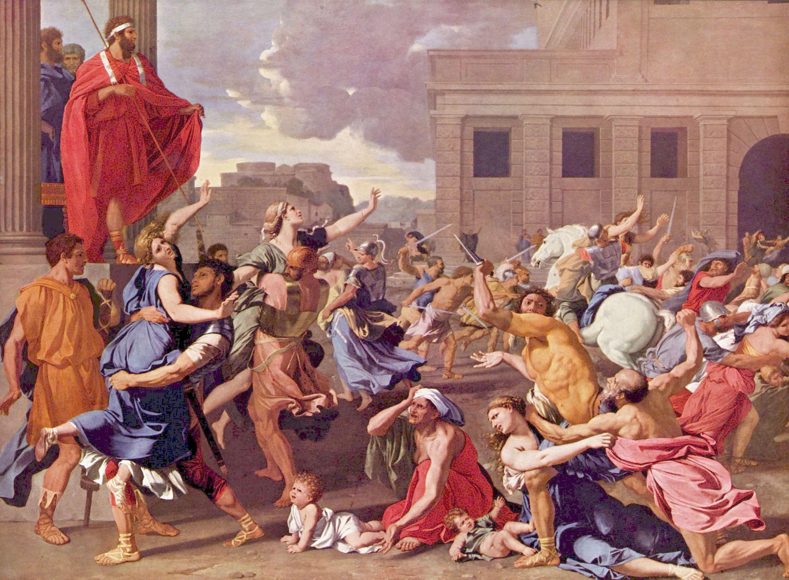 Nicolas poussin raub der sabinerinnen 07789