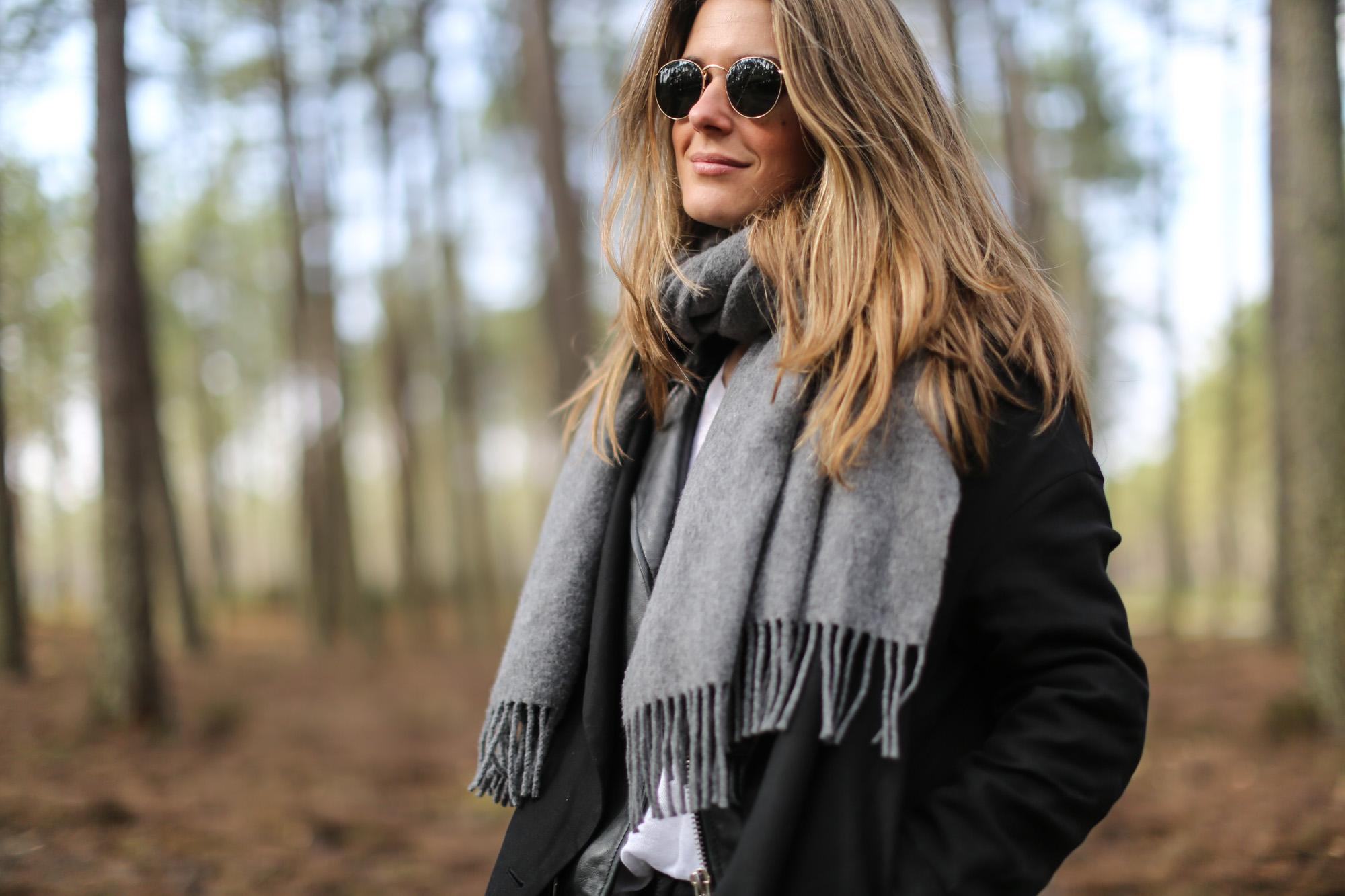 Clochet streetstyle adidas gazelle vintage grey acne studios canada scarf mango leather biker 6