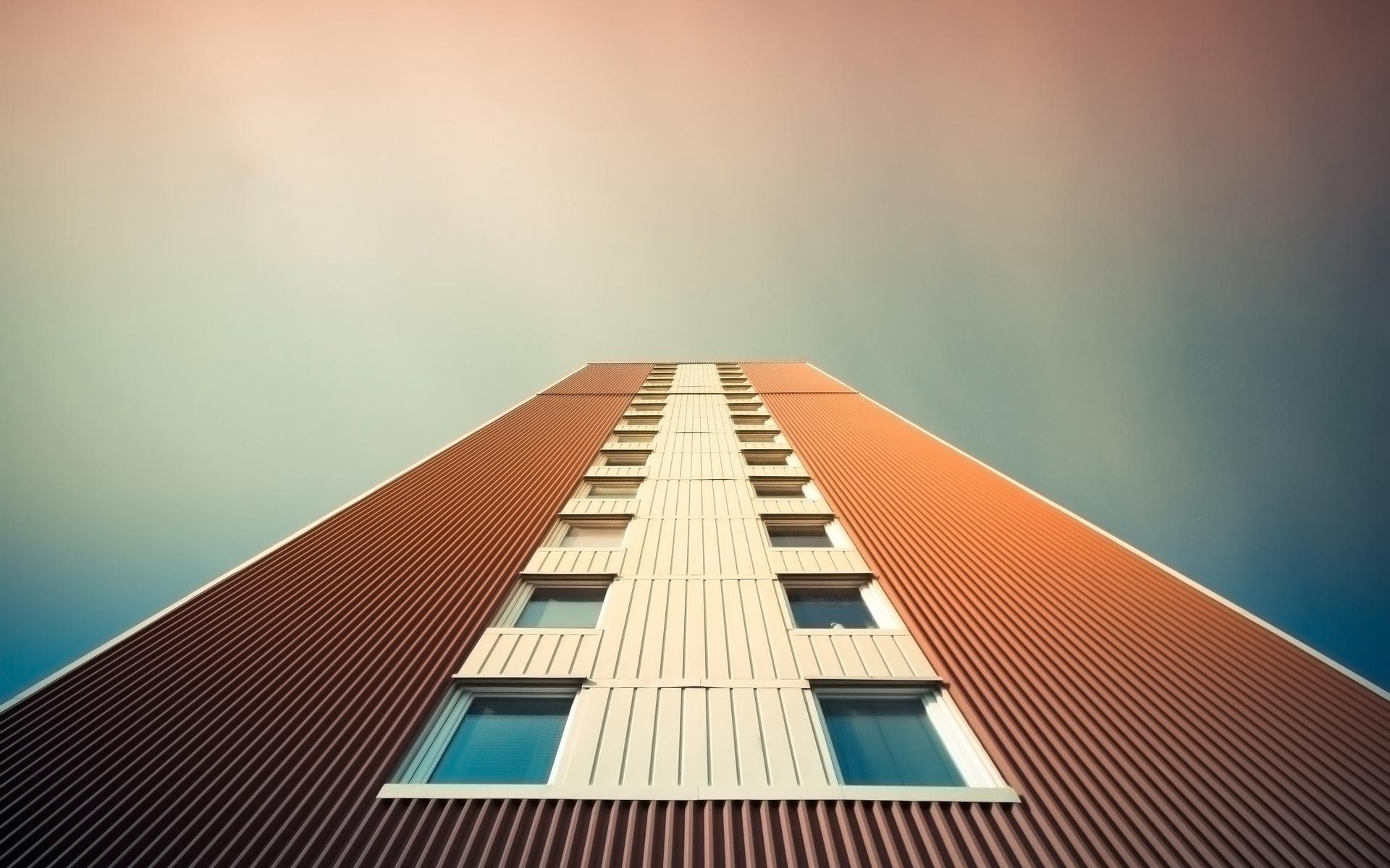Gorod dom vysotka okna nebo