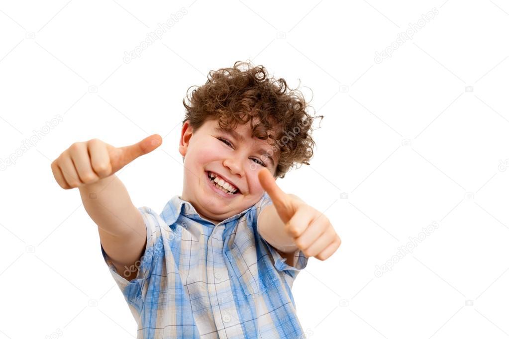 Depositphotos 32782523 stock photo boy showing thumb up