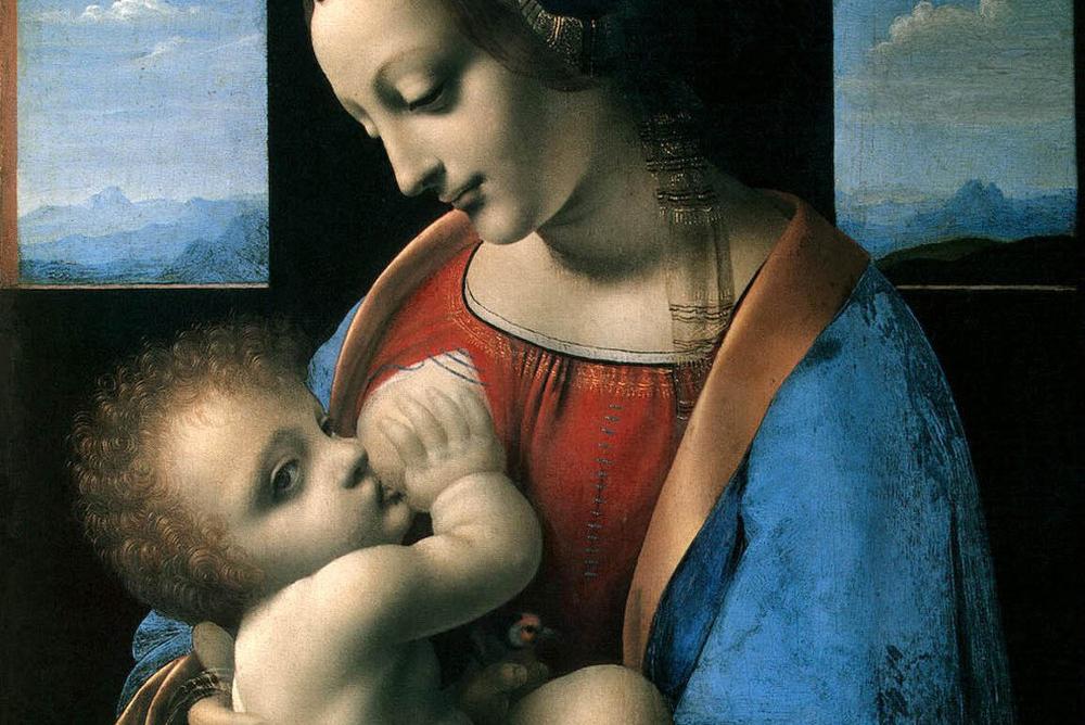 Leonardo da vinchi madonna s mladencem madonna litta