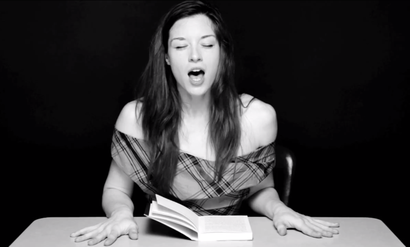 Stoya reading
