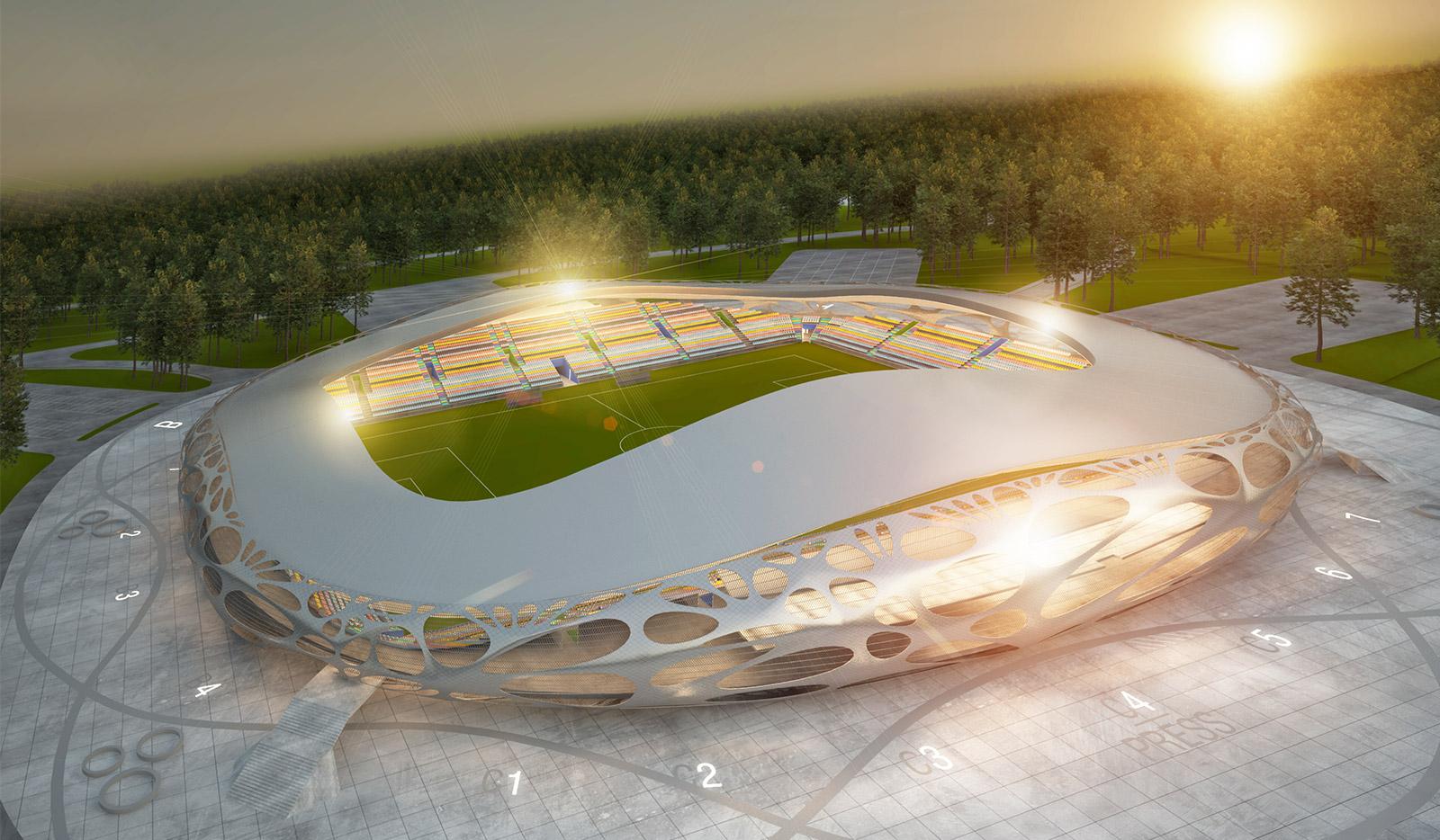 Novyy stadion v borisove