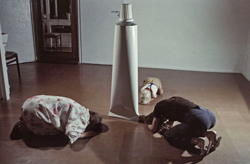 'Activities with a tube' by KwieKulik, 1975
