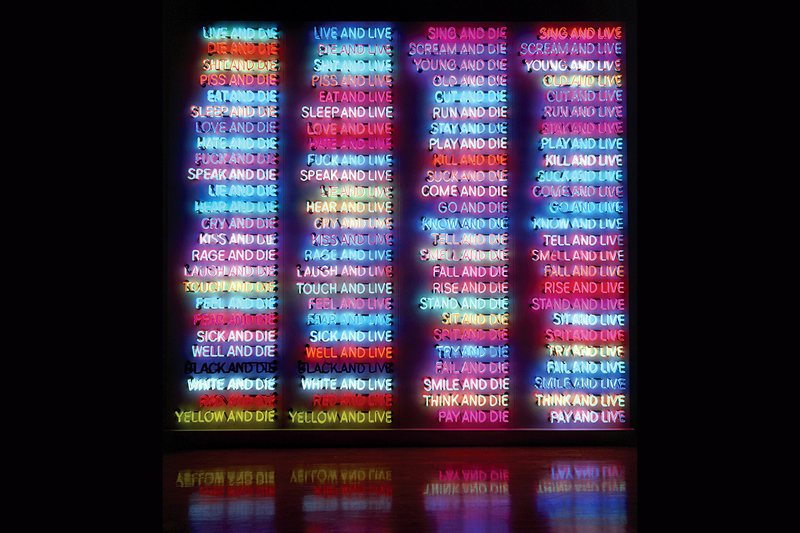 Брюс Науман. One Hundred Live and Die. 1984. Фото: 2018 Bruce Nauman/Artists Rights Society (ARS), New York / Dorothy Zeidman, Sperone Westwater, New York