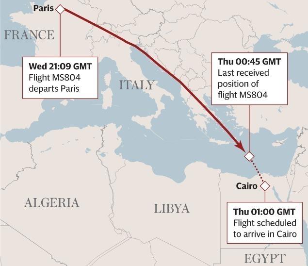 Обломки, найденные около берегов Греции, непринадлежат разбившемуся самолету EgyptAir