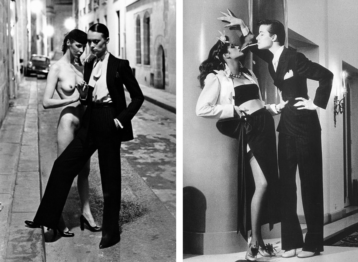 Смокинги Yves Saint Laurent, фото: Helmut Newton