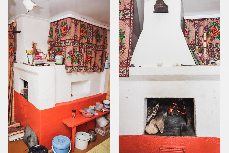 Как раскрасить печь в доме своими руками 9