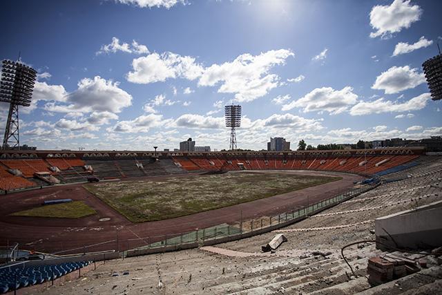 Футбольный стадион в центре