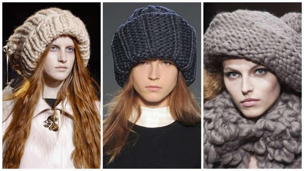 Вязание шапки объемной