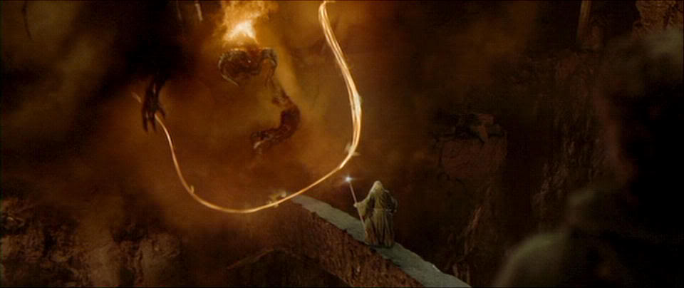 Gandalf confronts balrog