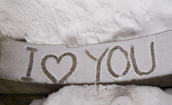 Открытки, снег картинка с надписью