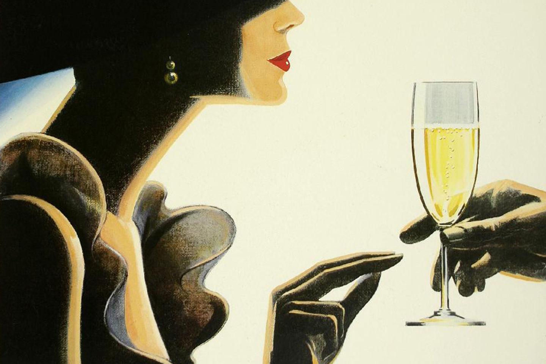 Член в шампанском