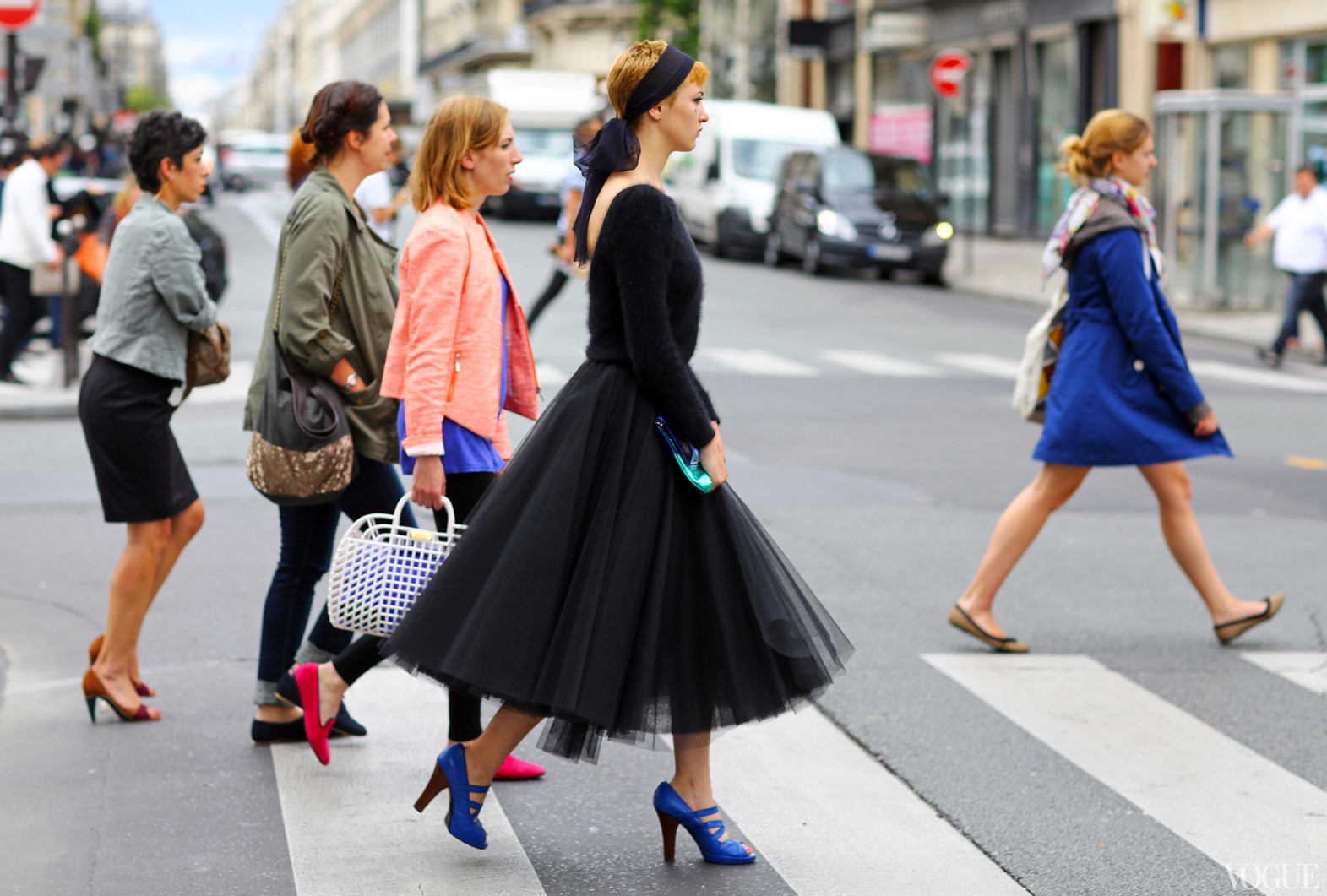 Fashion week couture street style princess skirt