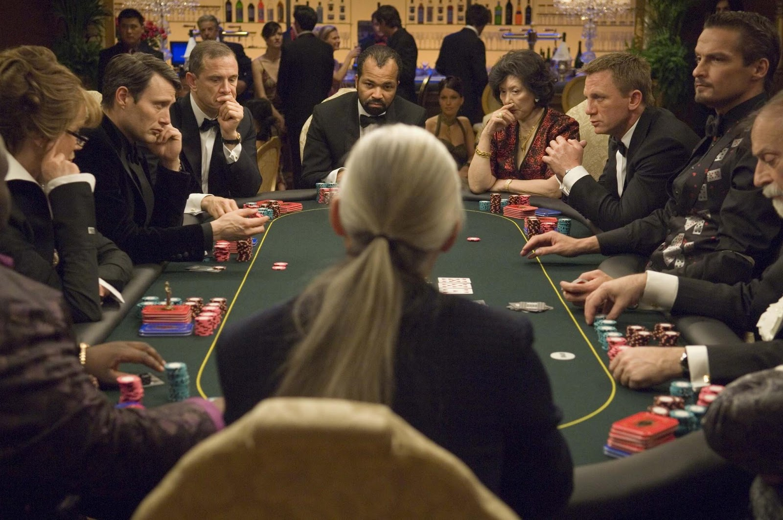 Still of daniel craig mads mikkelsen and jeffrey wright in casino royale 2006 large picture