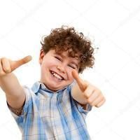 Thumb depositphotos 32782523 stock photo boy showing thumb up